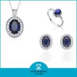 Прелестно Jewellery серебра Rhinestone установленный для повелительниц (J-0166)