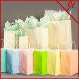 백색 구매자에 백색 Kraft 쇼핑 백 그리고 색깔