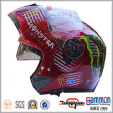PUNKT Kippen herauf Motorrad-Sturzhelm mit doppelten Masken (LP508)
