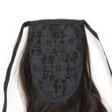 20 polegadas retas de seda das partes sintéticas do cabelo do Ponytail do grampo da garra do cabelo de Kanokalon da cor preta