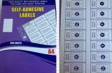 Het lege Etiket van de Etiketten van het Adres Zelfklevende Kleverige A4