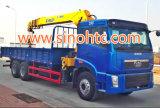 トラックによって取付けられるクレーンクレーン8-16トンのクレーントラックの自己のローディングのトラック