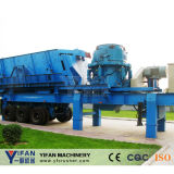 Yifan breveté de technologie Mobile Rubber-Tyred Crusher