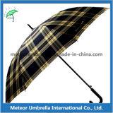 Guarda-chuva reto do golfe do anti presente relativo à promoção UV ao ar livre auto