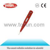 テスターのペンのデジタルLCD表示が付いている電気電圧テスター