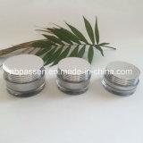 Vaso crema acrilico d'argento impaccante della nuova estetica di arrivo (PPC-NEW-124)