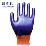 полиэфир 13G 3/4 перчаток безопасности нитрила Coated с Ce