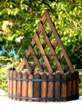 Vaten de met lange levensuur van de Hangende Tuin voor de Decoratie van de Tuin