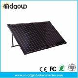 Портативный складывая 100W чемодан панели солнечных батарей черноты кремния ватт 12V Mono кристаллический