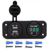 ユニバーサル3.1AはUSBの充電器のソケットおよび電圧計のソケット二倍になる
