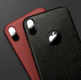 iPhone 8을%s 호리호리한 연약한 가죽 짜임새 이동 전화 상자