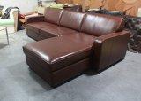 居間の角のソファー、ホテルのソファー、本革のコーナーのソファーYh-235