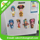 Lunghezza morbida di gomma 13cm di opera della gente del magnete cinese del frigorifero