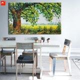 Het nieuwe Vreedzame Olieverfschilderij van het Canvas van het Landschap van de Boom van het Platteland Grote