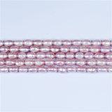 цвет лаванды качества AA перлы риса 5mm 6mm