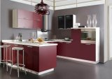 ホーム台所家具のための光沢のある木製のキャビネット(customzied)