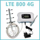 Aumentador de presión de la señal de Lte 800MHz/repetidor con la visualización del LCD + trabajo móviles elegantes de la antena del Yagi para 4G