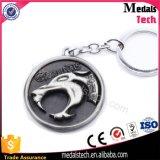 Trousseau de clés dur d'émail en métal de souvenir nickelé brillant coloré en métal