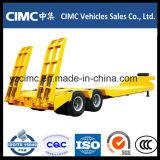 Cimc 3車軸最もよい品質50トンの低いベッドのトレーラーの