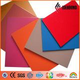 PVDFの上塗を施してあるオレンジ、赤く、黒いアルミニウム合成のパネル