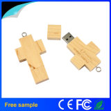 Porte-clés en bois Cross USB Flash Drive Cadeau promotionnel