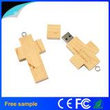 나무로 되는 열쇠 고리 십자가 USB 섬광 드라이브 선전용 선물