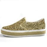 2017 новых ботинок яркия блеска типа с платформой ленточного каната/эластичным поясом