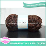 Confecção de malhas extravagante lantejoula Bead roxo Misture Fios de bambu para vestuário