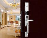 Bloqueo de puerta electrónico de la seguridad del hogar del sensor de la tarjeta inteligente del telclado numérico de la huella digital