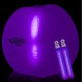 Förderung-rosafarbene Farben-aufblasbarer Wasserball mit LED-Knall nach innen für Partei