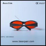 Se divierte el tipo de anteojos de las gafas de seguridad de laser/seguridad para los lasers verdes 532nm (GHP-2 200-540nm) con Frame55