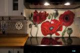 Glace décorative Tempered avec l'impression d'écran en soie pour la construction