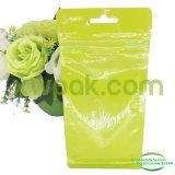Квад-Загерметизированный упаковывая мешок с окном и Ziplock