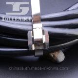 Serre-câble libérable enduit en plastique d'acier inoxydable