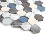 Mosaico de cristal del último derretimiento caliente hexagonal 2016 con Alumium