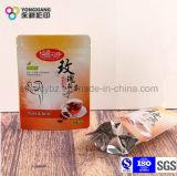 Kundenspezifischer Tee-Fastfood- mit Reißverschluss Kunststoffgehäuse-Beutel des Nahrungsmittelgrades