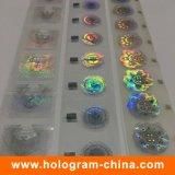 Folha de carimbo quente do holograma de alumínio da lavagem