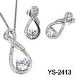De Nieuwe Stijlen van de Juwelen van de manier 925 Zilveren Reeksen van de Juwelen van CZ