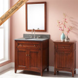 Шкаф ванной комнаты тщеты ванной комнаты твердой древесины вишни Fed-346A миниый