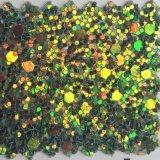 Couro sintético do plutônio do Glitter para a caixa Hw-863 do telefone da carteira da caixa de lápis