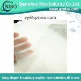 Fábrica no tejida hidrofílica suave estupenda para la servilleta sanitaria Topsheet del pañal del bebé