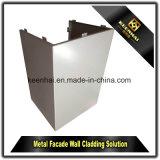 De PVDF Met een laag bedekte Kleur Aangepaste Bekledingspanelen van de Muur van de Voorzijde van het Aluminium van het Metaal