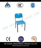 Schwarz-Plastikstapel-Stuhl der Kapazitäts-Hzpc035 mit schwarzem Rahmen