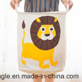 Горячий тип 2016! Мешок Hamper Bag&Laundry хранения игрушки младенца холстины милый складной для Gsal1127