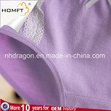 O algodão colorido por atacado ventila o roupa interior das senhoras da cuecas do triângulo das raparigas do Lacework