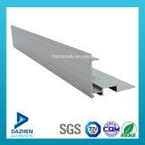 Perfil de alumínio personalizado revestido pó da extrusão para a porta do indicador