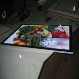 Rectángulo ligero delgado publicitario de acrílico de encargo del LED Frameless