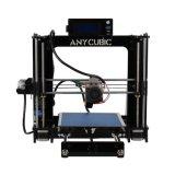 Placa completamente ensamblada, calentada de la estructura con la impresora 3D de la nivelación automática con el volumen 210 milímetro X cuadrado 205 milímetros