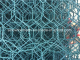 六角形ワイヤー網に塗るPVC