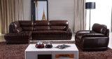 Sofà di legno moderno del cuoio del salone del sofà dell'hotel (UL-NS128)